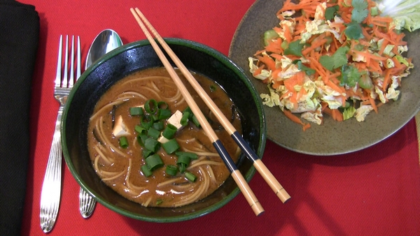 Miso Soup with Carrot and Celery Salad