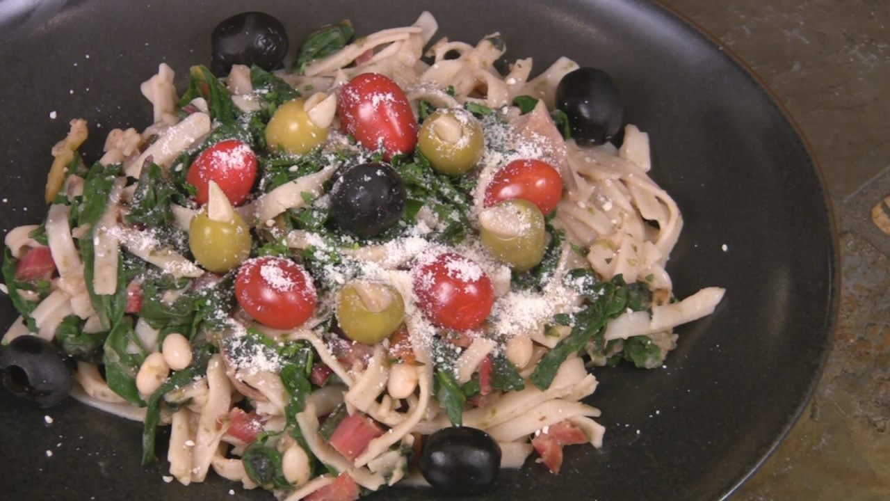 White Beans and Greens Fettuccini
