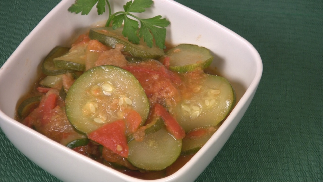Stewed Zucchini and Tomatoes