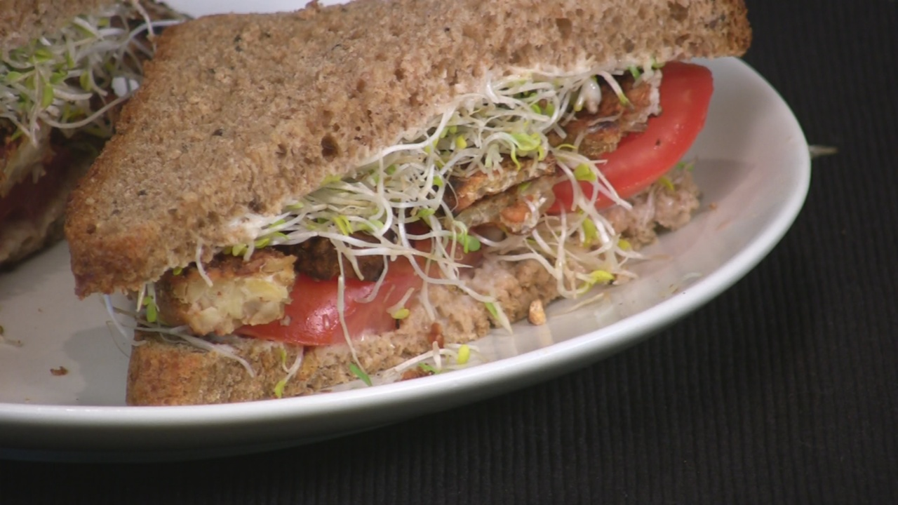 BST (Bacon, Sprout, and Tomato Sandwich)