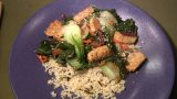 Tempeh Stir Fry with Vegetables, Brown Wild Rice and Millet